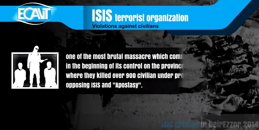 إحصائية الانتهاكات التي ارتكبها تنظيم داعش في ديرالزور بين عامين 2014-2017