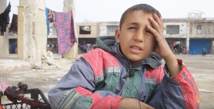 Yamin – A child lived in ISIS controlled areas