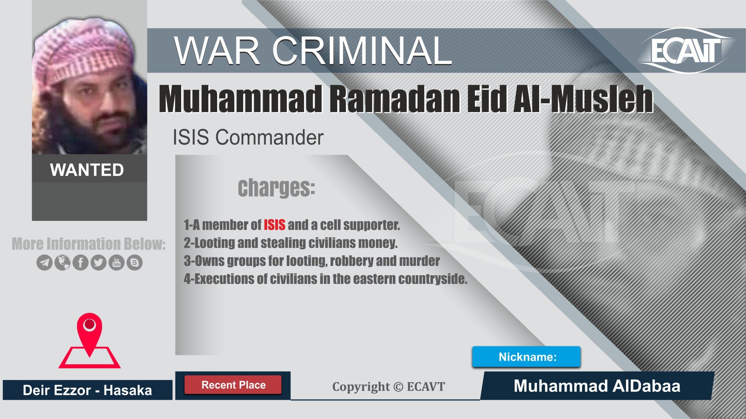 محمد رمضان عيد المصلح الملقب الضبع